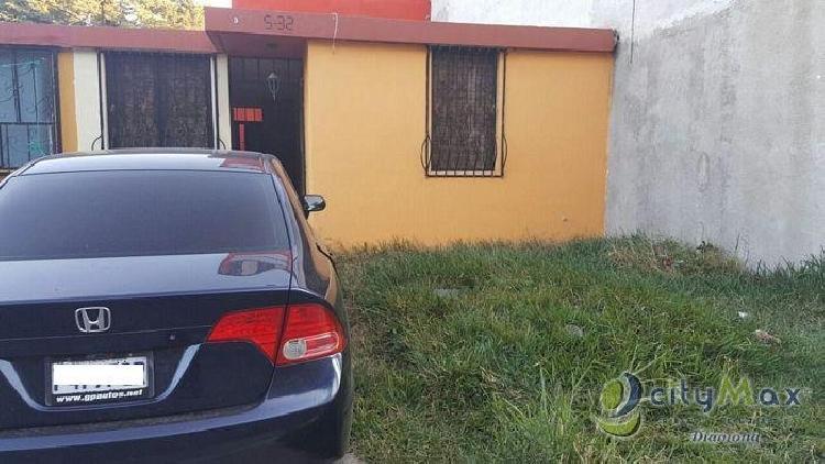 Casa en venta, de un nivel,  en San Miguel Petapa dentro de condominio