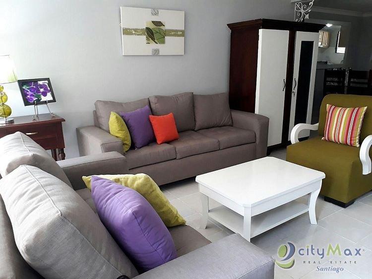 Apartamento amueblado en renta santiago