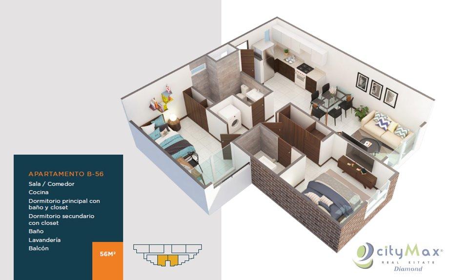 Apartamento en venta ideal para vivir o como inversion