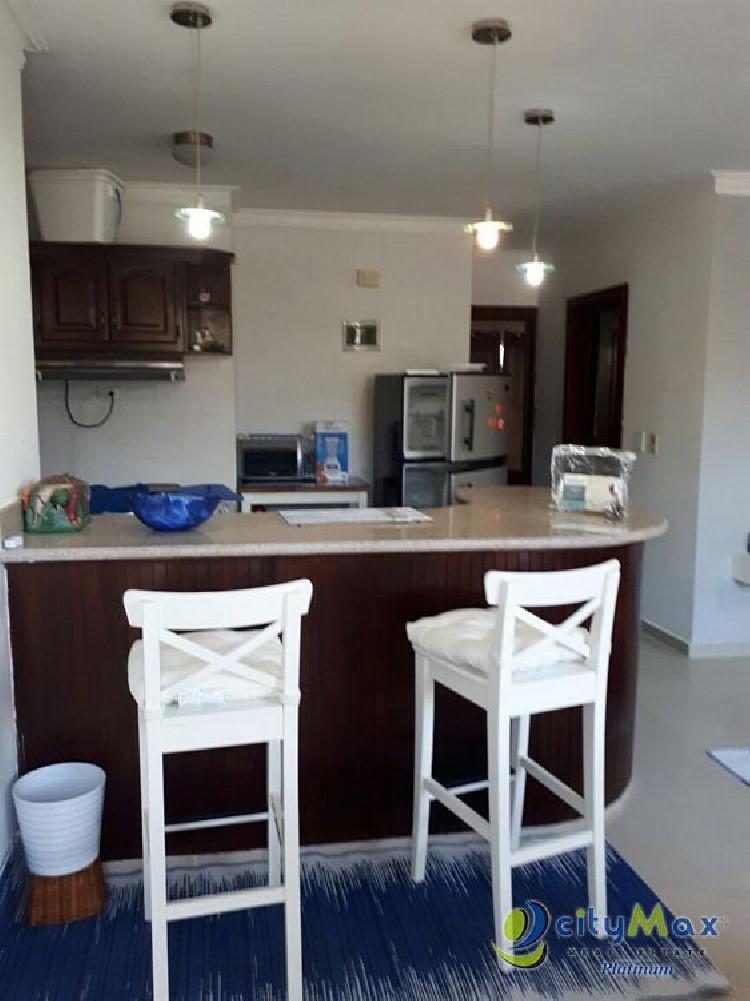 En Alquiler apartamento amueblado 2Hab/2Banos en Bavaro