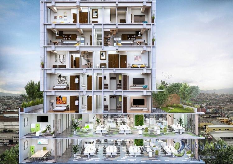 Apartamento en 4 grados en planos zona 4