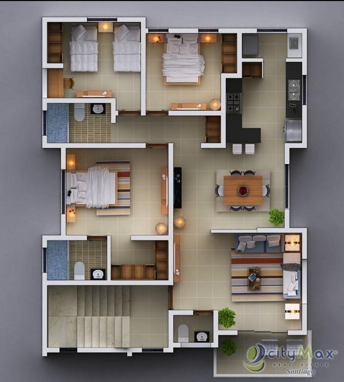 Amplio apartamento en VENTA en Los Álamos.