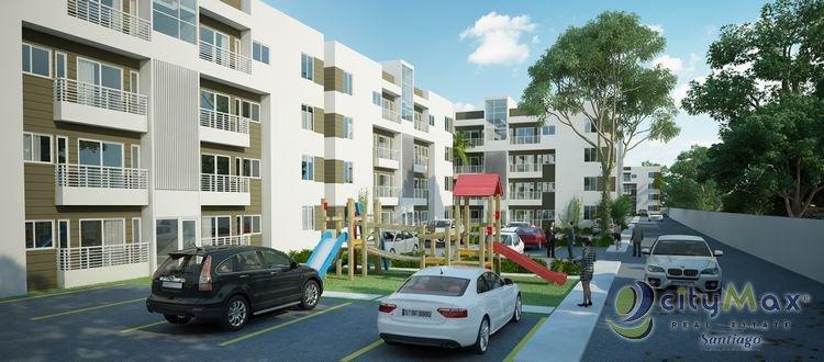 Apartamento con piscina en plano, Gurabo,Santiago
