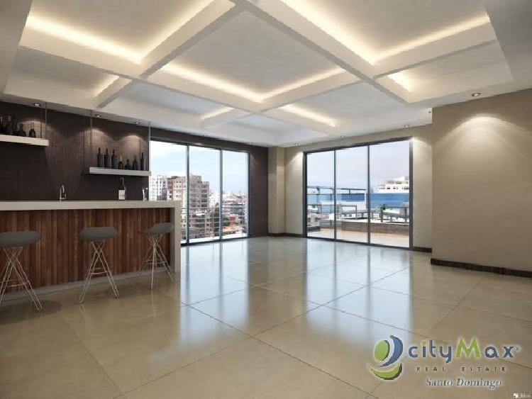 En venta apartamento de dos habitaciones en Piantini