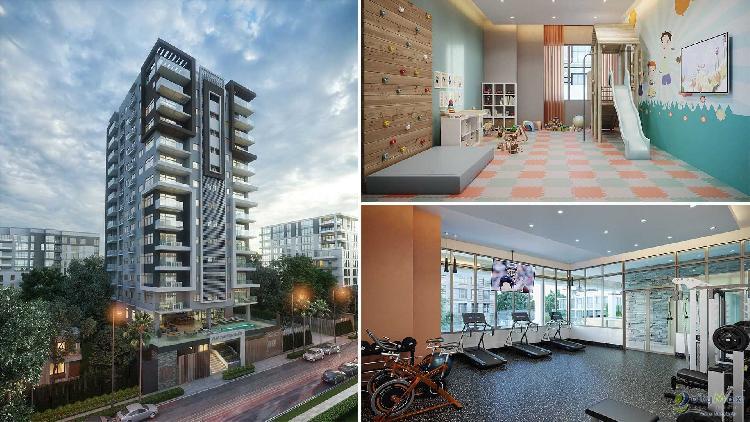 Apartamento de 126 mts en Torre con Piscina en el Naco