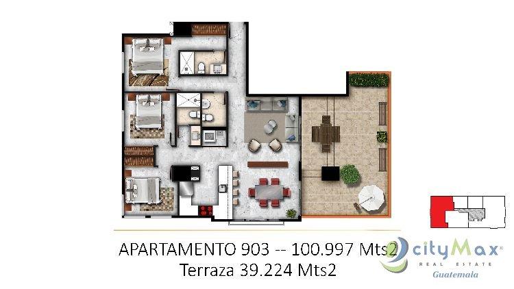 (CITYMAX) Promociona Apartamento en Venta Zona 15