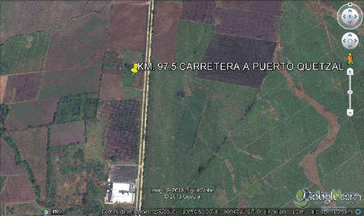 TERRENO EN VENTA SOBRE CARRETERA A PUERTO QUETZAL GUATEMALA