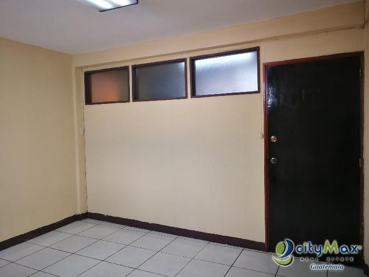 Oficina en renta en la 6ta avenida zona 10, Hospitales