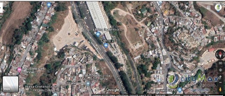 Terreno plano en venta o alquiler Calzada La Paz zona 5