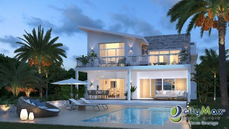 Hermosa y Moderna Villa en Venta en Cap Cana