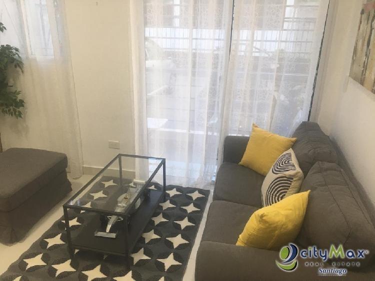 Rento  Apartamento Amueblado en el Dorado II , Santiago